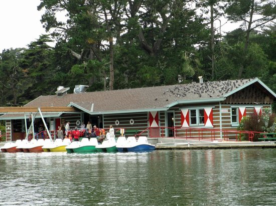 Stow Lake Boathouse rents paddle boats and row boats.