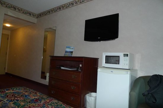 Rodeway Inn Springhills Lake George: Furnishings, flat screen TV
