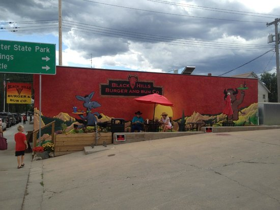 Black Hills Burger and Bun Co.: Side Mural of building