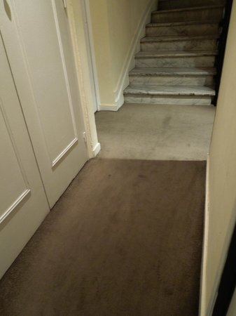 Hotel Le Grimaldi by HappyCulture: Carpet in corridor to Room 55 - Le Grimaldi, Nice  – Sep 8-9 2012