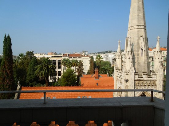 Hotel Le Grimaldi by HappyCulture: View from balcony Room 55 - Le Grimaldi, Nice  – Sep 8-9 2012