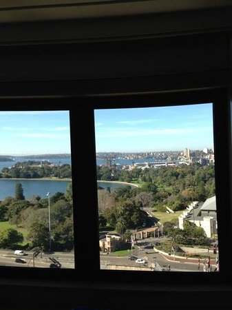 InterContinental Sydney: view from room on Botanic Gardens