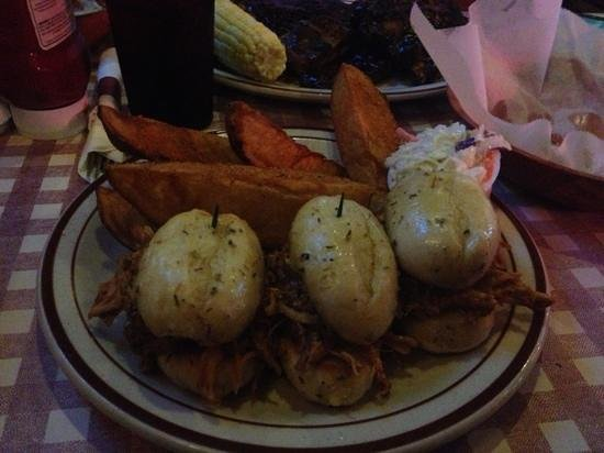 The Original Big Ed's BBQ: pulled chicken sliders