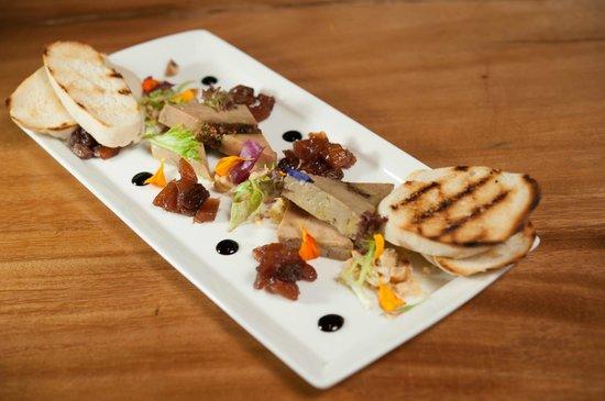 Homemade Terrine Of Foie Gras With Fruit Chutney Monbazillac