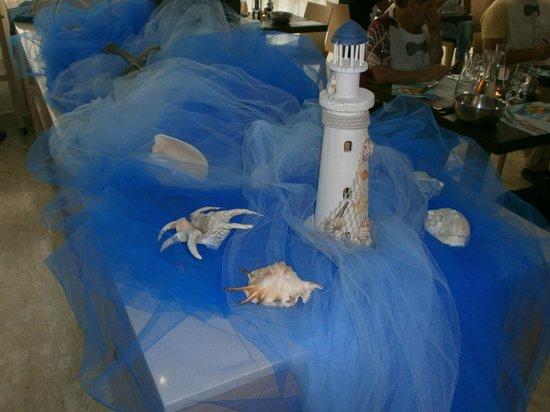 Hotel Tabor: Decori serata marinara