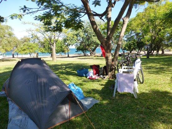 Sunbird Livingstonia Beach: Lovely grassy campsite