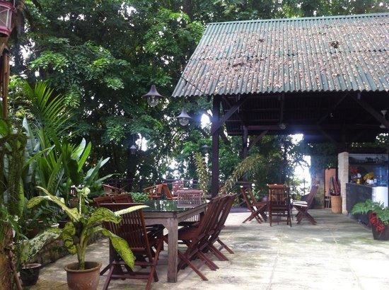 The Dusun: Breakfast patio, near the smaller pool & Berembun