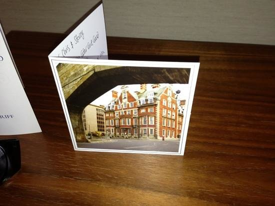 The Grand Hotel & Spa: welcome card in room
