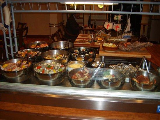 Hotel Ibis Site du Futuroscope : voorgerecht buffet