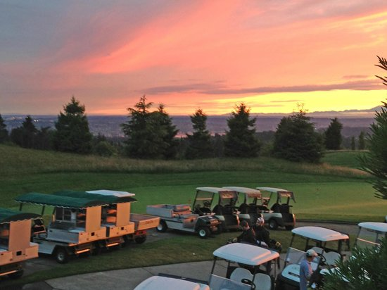 Newcastle Country Club: Golf Carts parking