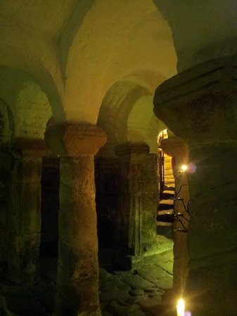 St Wystan Church, Repton - inside the crypt