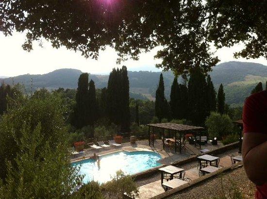 Tenuta Mocajo: the pool and the view from the Villa