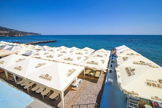 Hotel Oreanda: Hotel`s beach