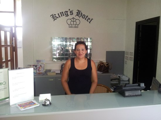 King's Hotel: Nayia the manager
