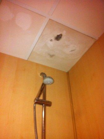 Hotel Evenia President: La ducha con su moho y todo, después de saltar el wc para llegar a la ducha.