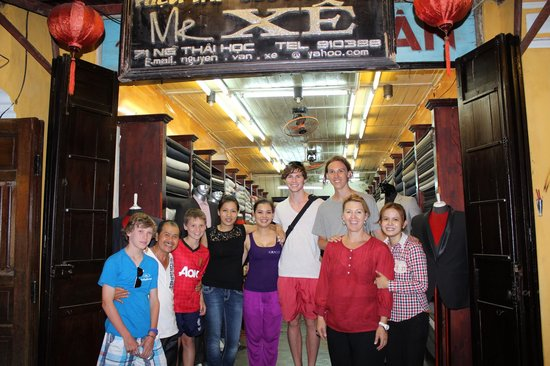 Mr Xe Tailor : Mr Xe's staff and our family