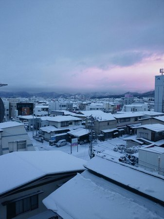 Comfort Hotel Tendo: 部屋から雪景色
