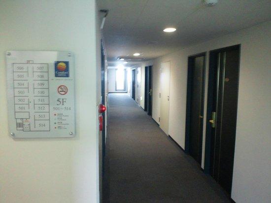 Comfort Hotel Tendo: 廊下