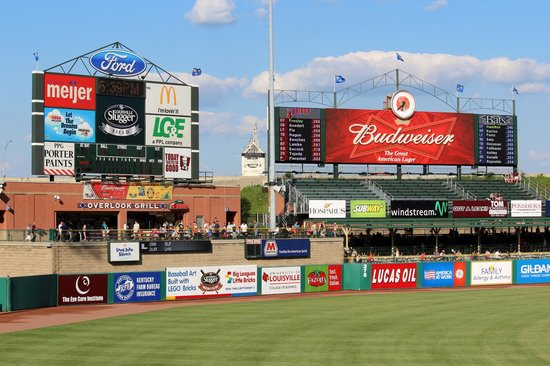 Louisville Slugger Field: outfield