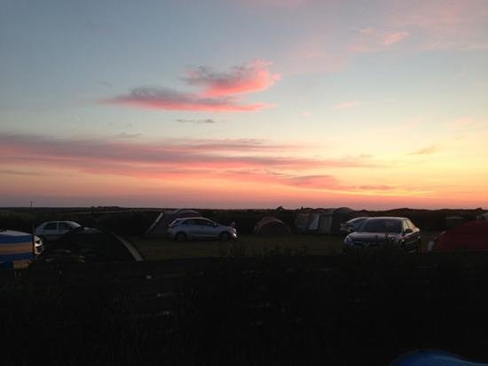 Summer Sunset at Treen Farm Campsite