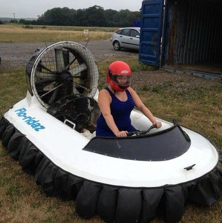 Flo-ridaz Hovercraft: sitting in the hover craft