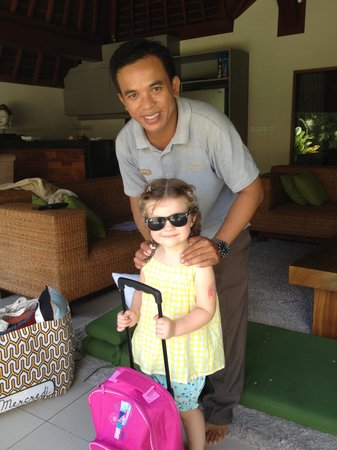 Serene Villas: Sucipta was great with the kids.