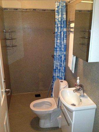 Three Sisters Guesthouse: Salle de bains sommaire au vu du prix d'un 4 étoiles demandé