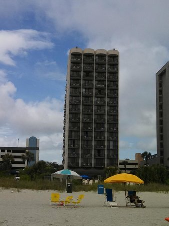 Meridian Plaza: The Meridian from the beach