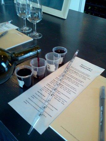 Honora Winery & Vineyard : blending class
