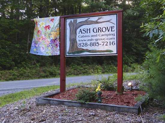 Ash Grove Mountain Cabins & Camping: Ash Grove sign