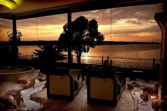 Giugliano in Campania, Italy: Area Relax al tramonto
