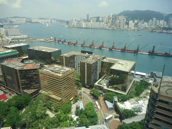 Hotel Panorama by Rhombus: View from our room where we can see Hotel Shangrila