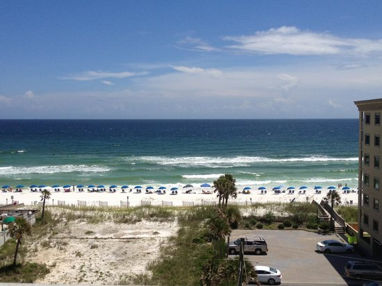 Okaloosa Island View From Emerald Isle Condo Overlooking The Beach On Gulf