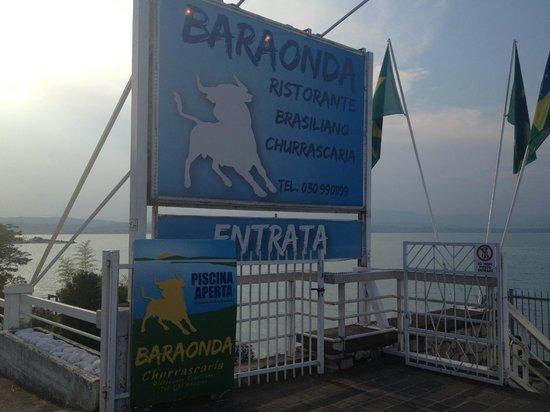 Rivoltella, Italien: Schild vom Restaurant