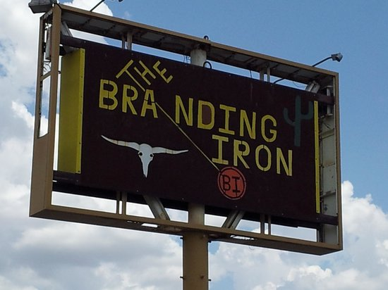 Branding Iron: Sign out front