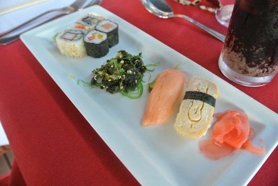 Alexander The Great Beach Hotel: Japanese, sushi platter
