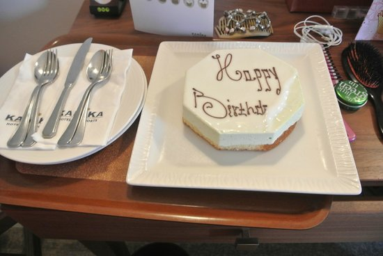Alexander The Great Beach Hotel: Birthday cake from the hotel