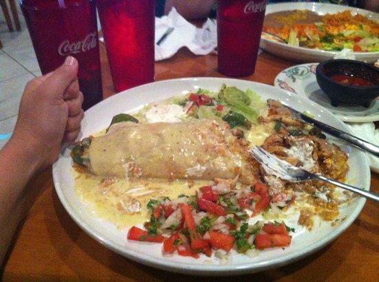 Torero's Mexican Restaurant: Carne Burrito (chicken) with Queso