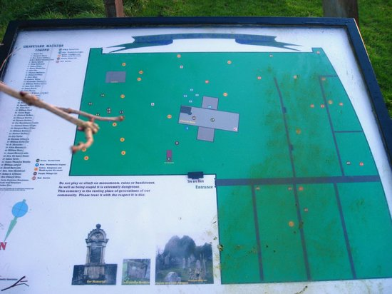 Templecorran Graveyard: The map at near the entrance.