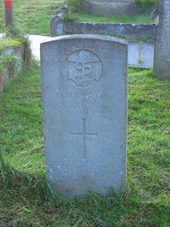 Templecorran Graveyard: WWII grave marker.