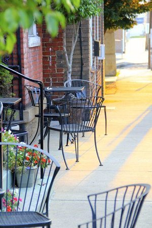 Beans in the Belfry: Outdoor seating