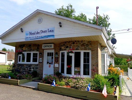 Motel des Deux Lacs Inc. : vue de la réception