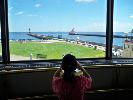 Lake Superior Maritime Visitor Center: Looking towards canal