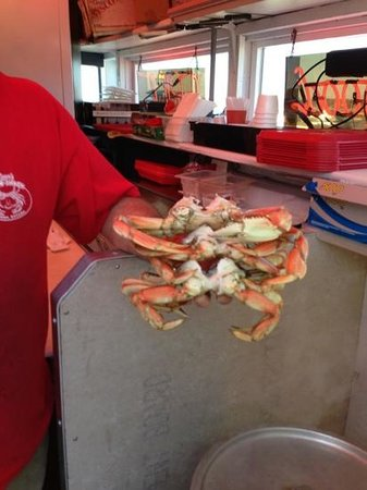 Tony's Crab Shack: Two 2- pound crab for dinner!