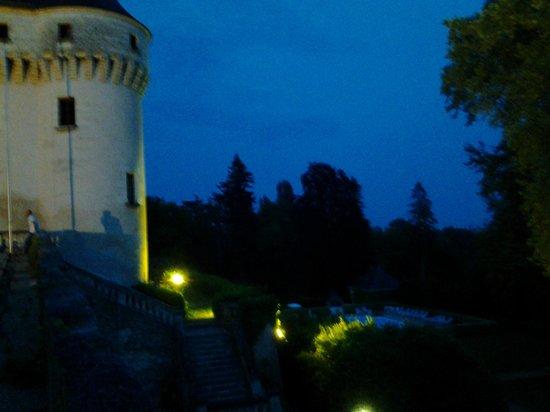 Chateau de Chissay : eclairage du chateau