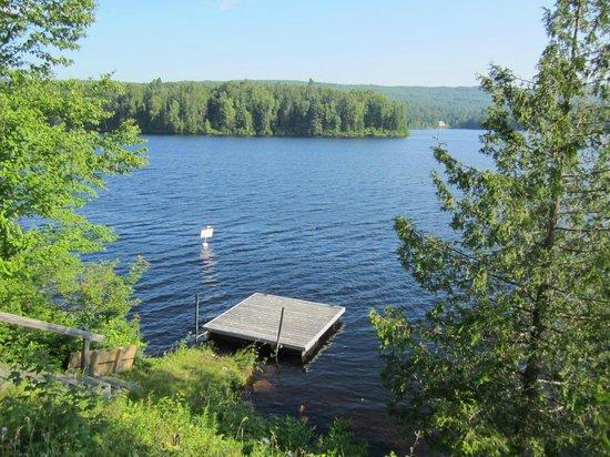 Motel Ours Bleu : Vue du lac