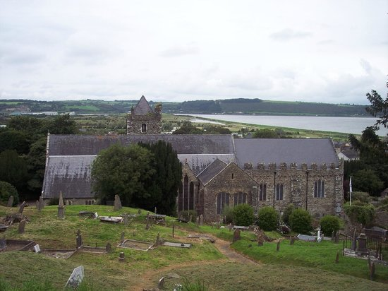 Collegiate Church Of St. Mary: View of church from the walls