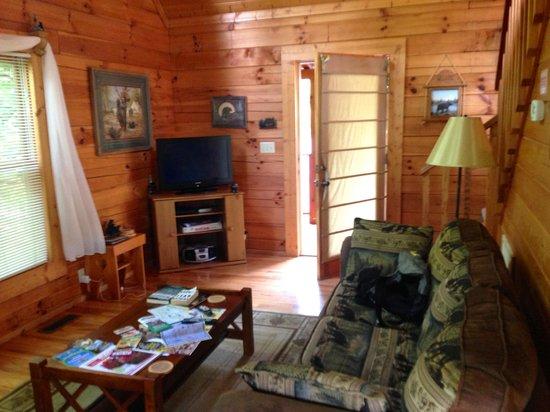Little Valley Mountain Resort : Living room/front door.