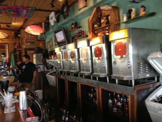 Big Kahuna Rum Shack: frozen drink choices