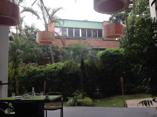 Las Rosas Hotel Boutique: From the seat at breakfast